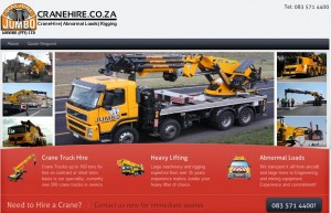 Cranehire.co.za Lead generation project