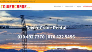 Tower crane rental lead generation